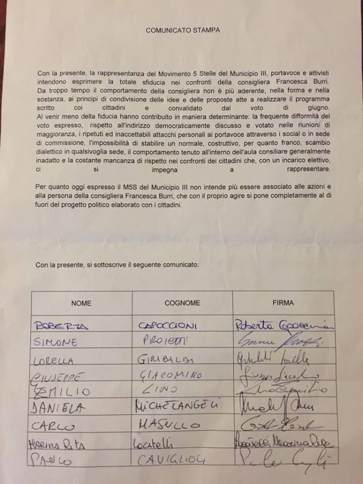 III municipio Francesca Burri m5s
