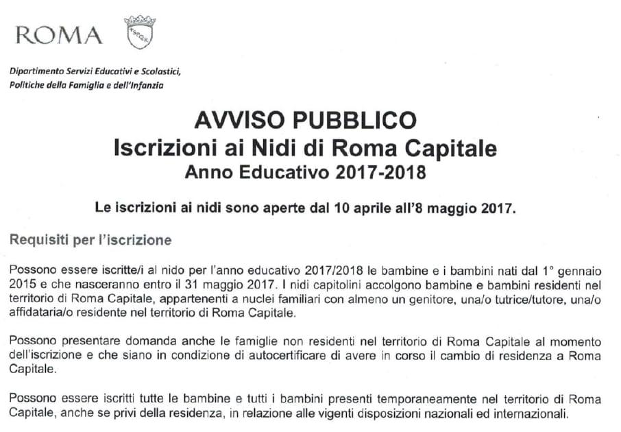 asili nido roma nidi convenzione nidi pubblici - 1
