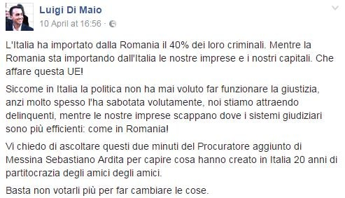 luigi di maio rumeni criminali delinquenti - 1