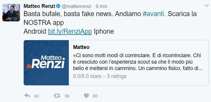 matteo renzi app