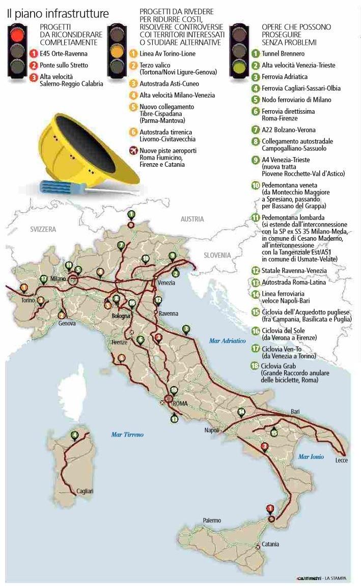piano infrastrutture connettere l'italia