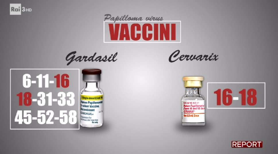 report papilloma virus vaccini hpv gardasil cervarix - 1