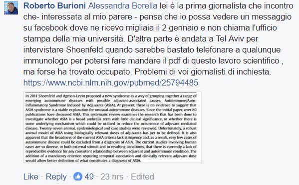 roberto burioni report