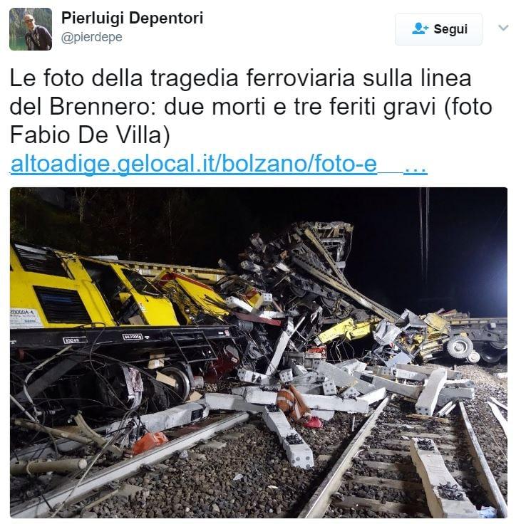 scontro treni brennero bressanone