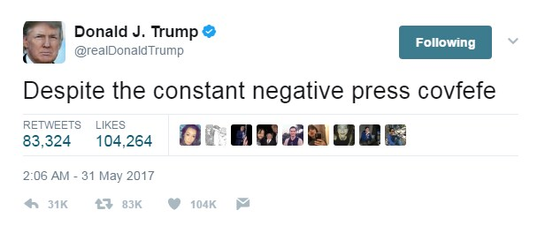 donald trump tweet covfefe - 2