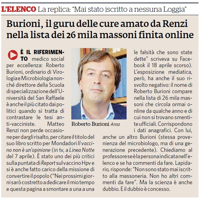 fatto quotidiano burioni massone vaccini - 1