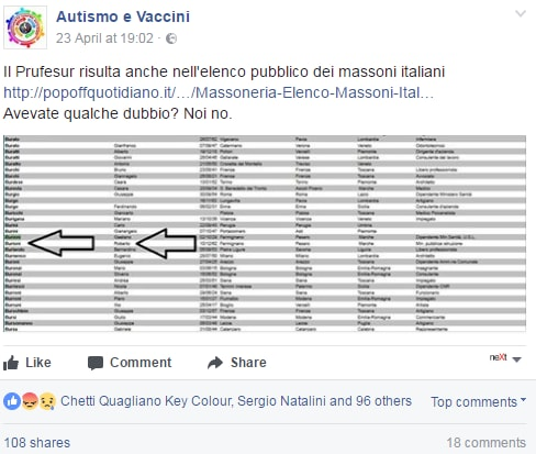 fatto quotidiano burioni massone vaccini - 5