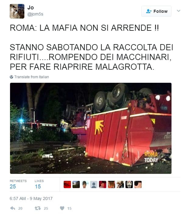 grillo raggi emergenza rifiuti roma - 2