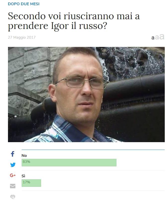 igor il russo libero sondaggio - 1