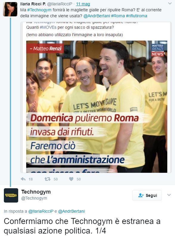 magliette gialle technogym