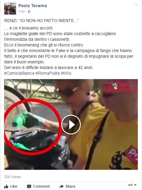 paola taverna complotto magliette gialle roma immondizia - 5