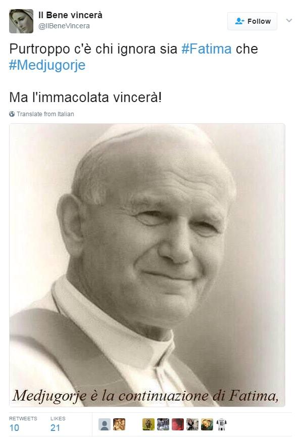 papa francesco medjugorje brosio socci celentano - 1