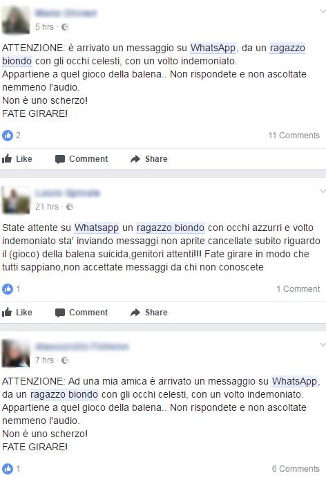 ragazzo biondo whatsapp blue whale - 1
