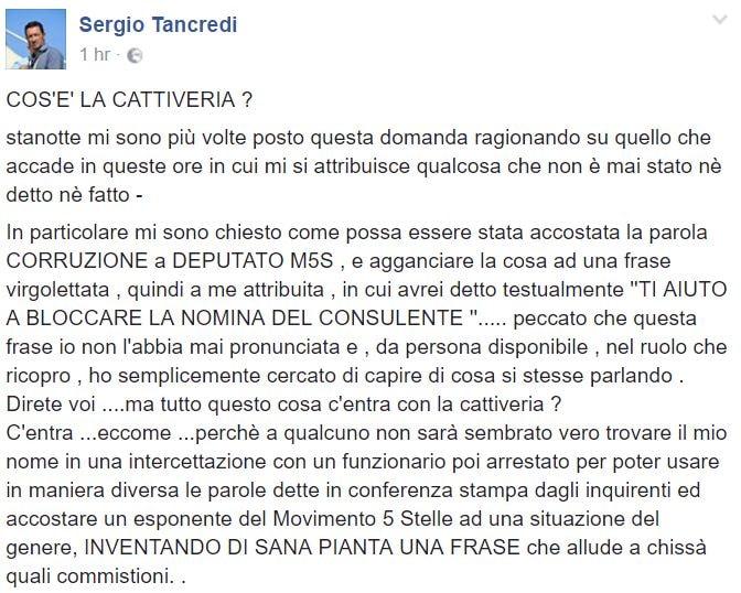 sergio tancredi m5s