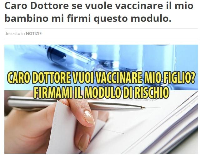 vaccini modulo di rischio garanzia di sicurezza - 1
