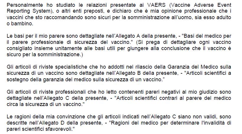 vaccini modulo di rischio garanzia di sicurezza - 3