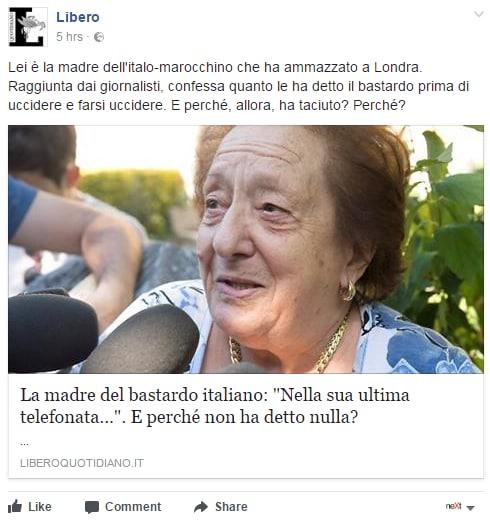 Valeria Collina Khadija madre terrorista londra italiano - 4