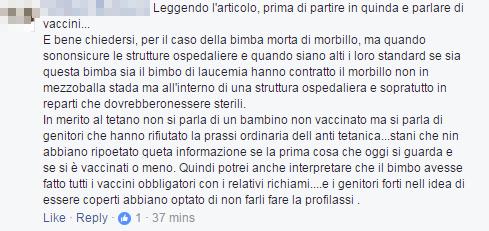 bambina morbillo roma free vax - 3