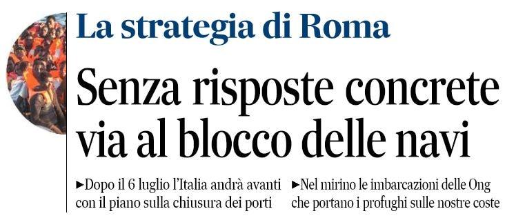 blocco porti italia