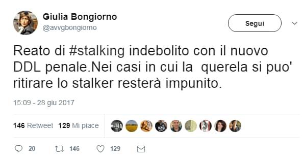 depenalizzazione stalking - 3