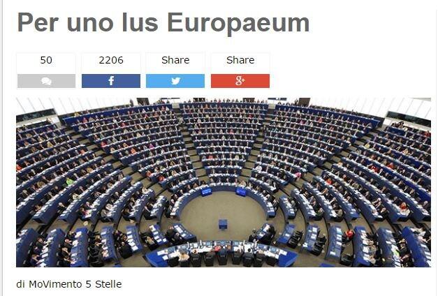 ius europaeum m5s