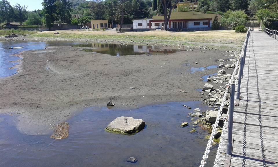 lago bracciano siccità raggi - 5