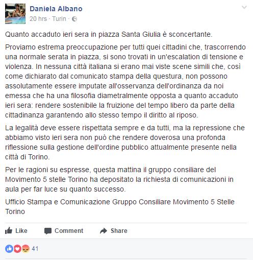 m5s ordinanza movida appendino santa giulia -1