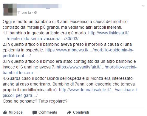 monza morto bambino morbillo leucemia - 5