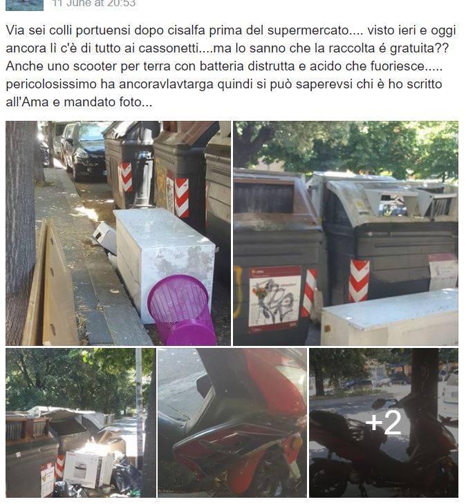 roma immondizia colli portuensi - 2