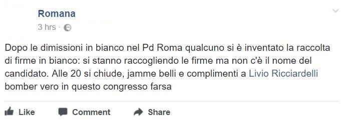 segreteria pd roma firme in bianco