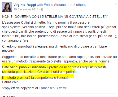 virginia raggi staff stipendi - 3