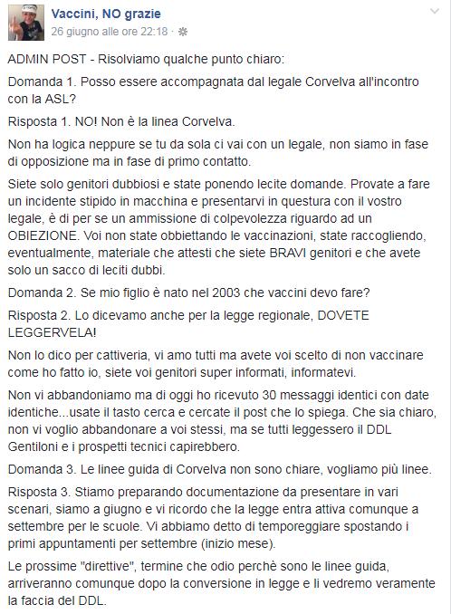 corvelva free vax decreto vaccini obbligatori - 4