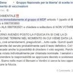 decreto vaccini fiducia mdp 3