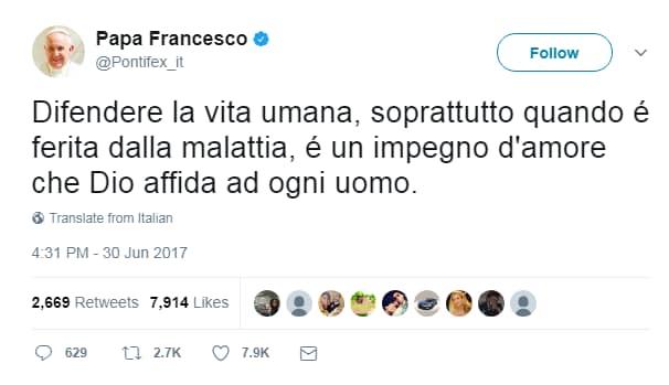 papa francesco charlie gard - 1
