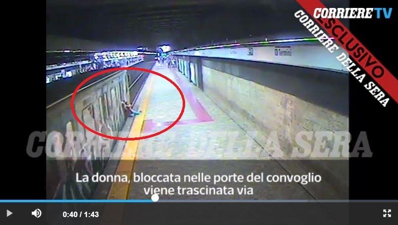 video donna trascinata metro macchinista 3