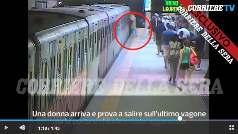 video donna trascinata metro macchinista 4