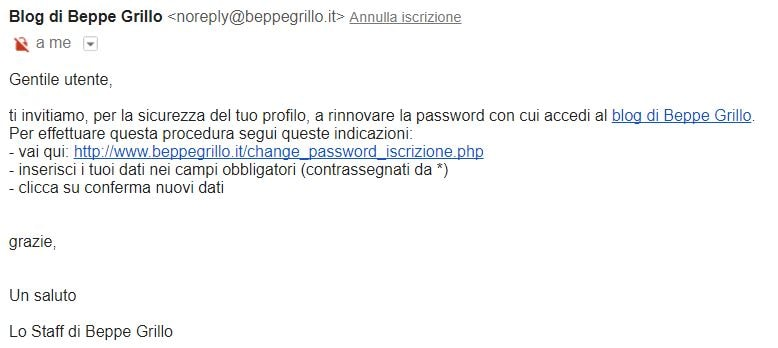 beppe grillo password