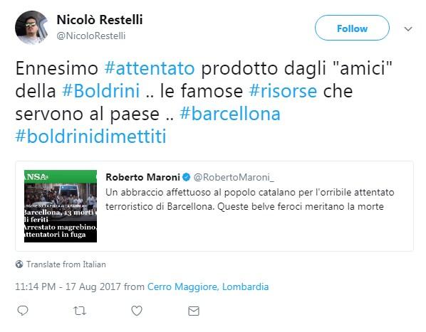 boldrini attentato barcellona sciacalli - 11