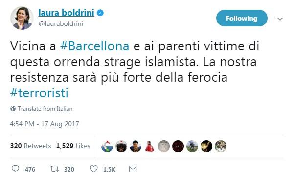 boldrini attentato barcellona sciacalli - 12
