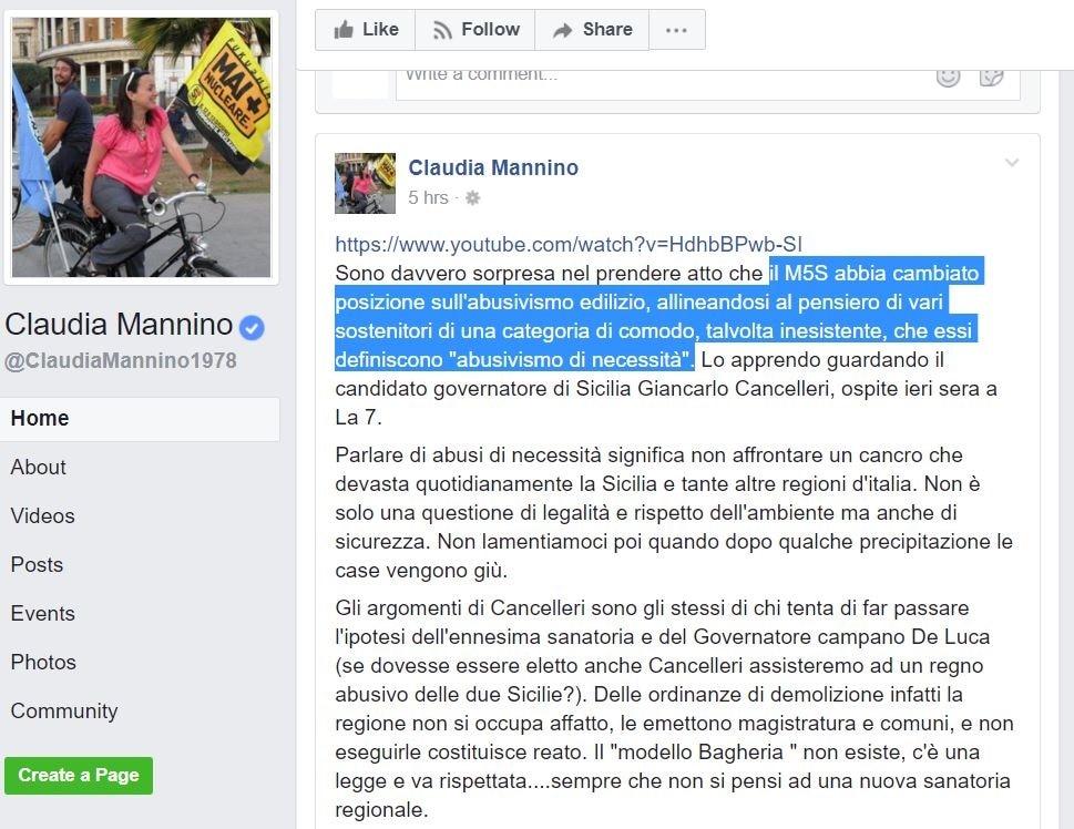 giancarlo cancelleri claudia mannino m5s