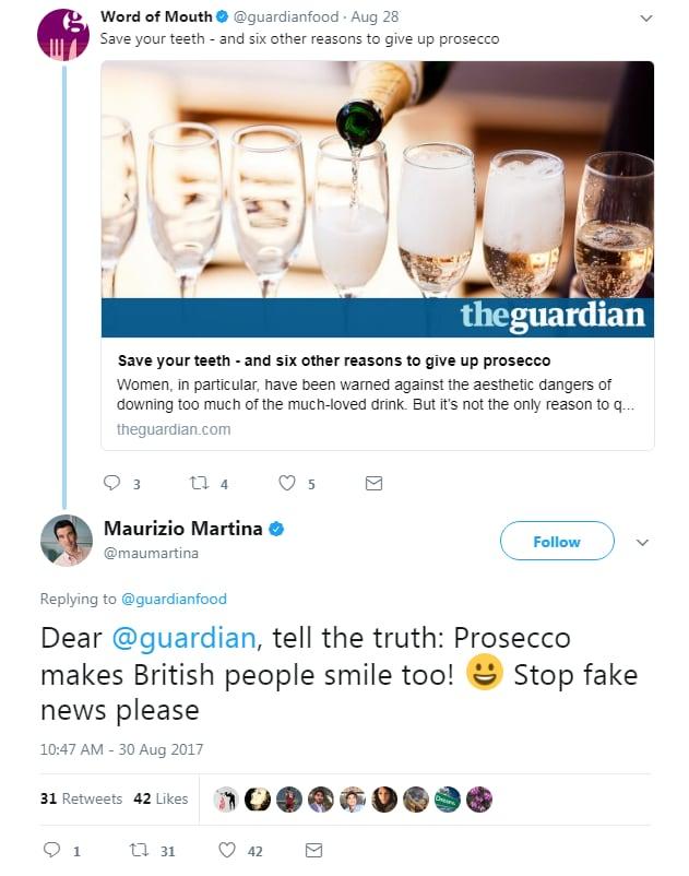 prosecco sorriso guardian martina - 1