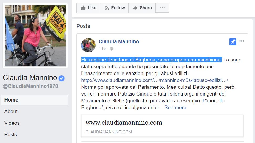 claudia mannino minchiona