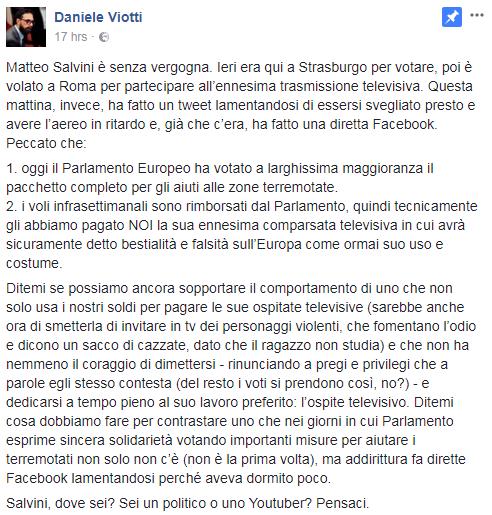 europarlamento salvini stanziamento terremoto italia centrale - 4
