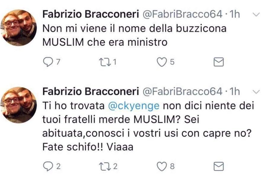 fabrizio bracconeri insulti kyenge twitter - 1