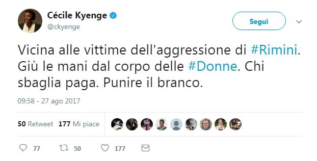 fabrizio bracconeri kyenge insulti twitter - 14
