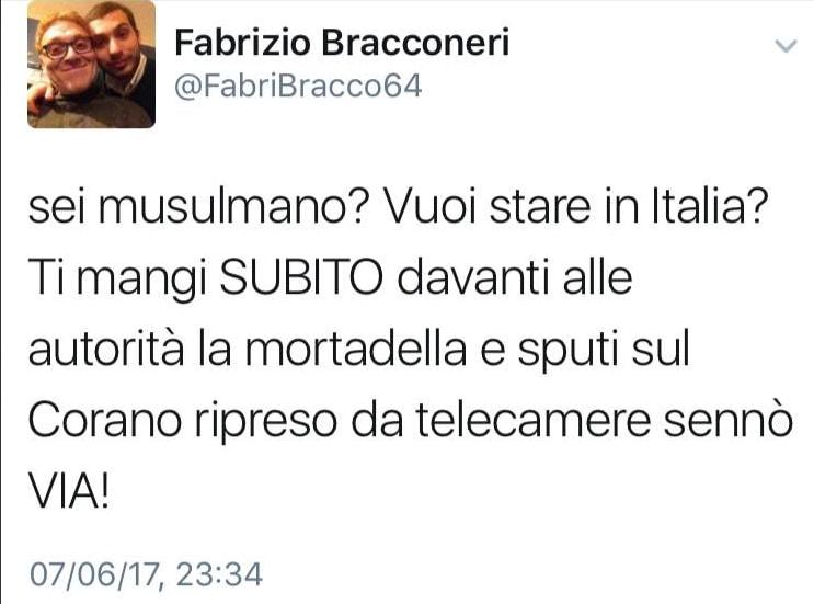 fabrizio bracconeri kyenge insulti twitter - 16