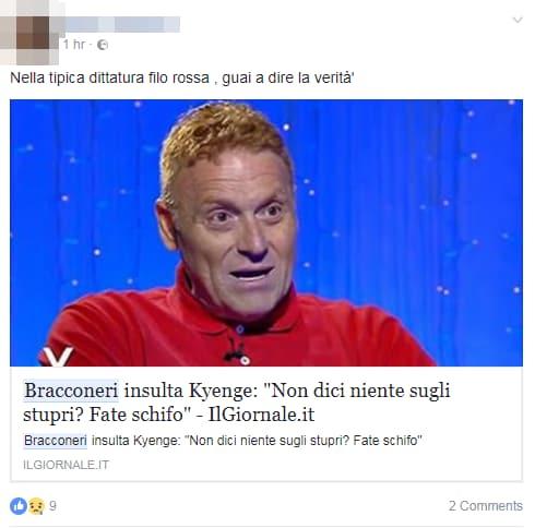 fabrizio bracconeri kyenge insulti twitter - 8