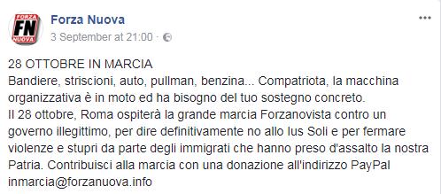 forza nuova marcia su roma - 2