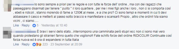 forza nuova passeggiata magliana ronda sicurezza - 5