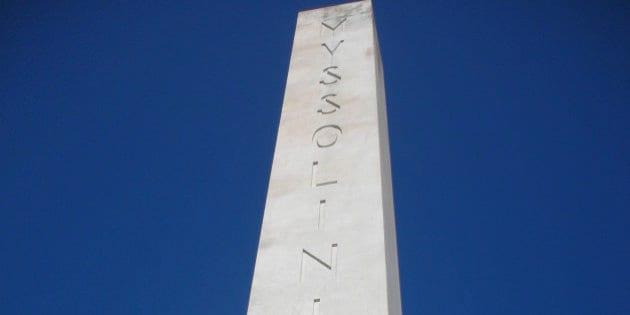 mussolini dux obelisco